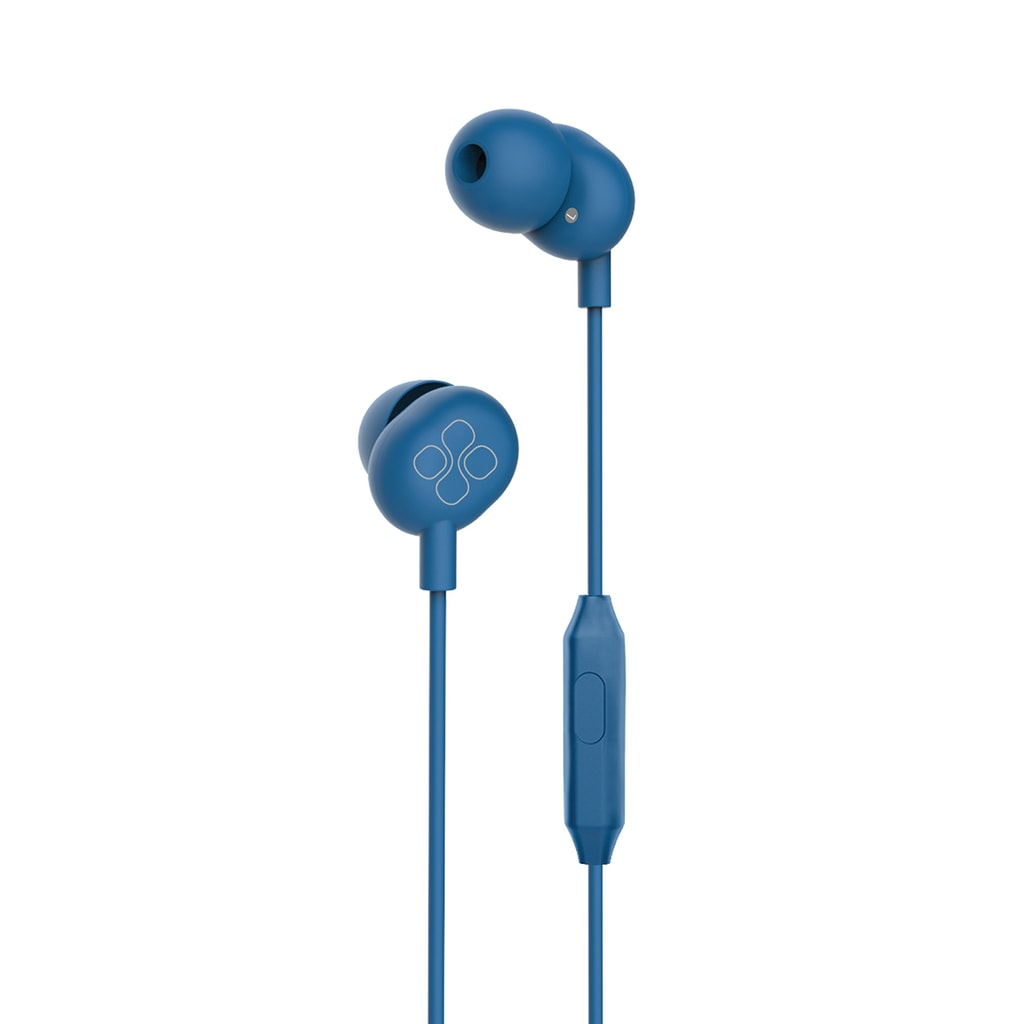 Promate In-Ear Headphones, Premium Audio Enhanced Wired Earphones with Dynamic HD Driver, Hi-Res Built-In Mic, Comfortable Earbuds and 1.2m Tangle-free Cord for Smartphones, Tablets, Pc, MP3 Player, ICE Blue