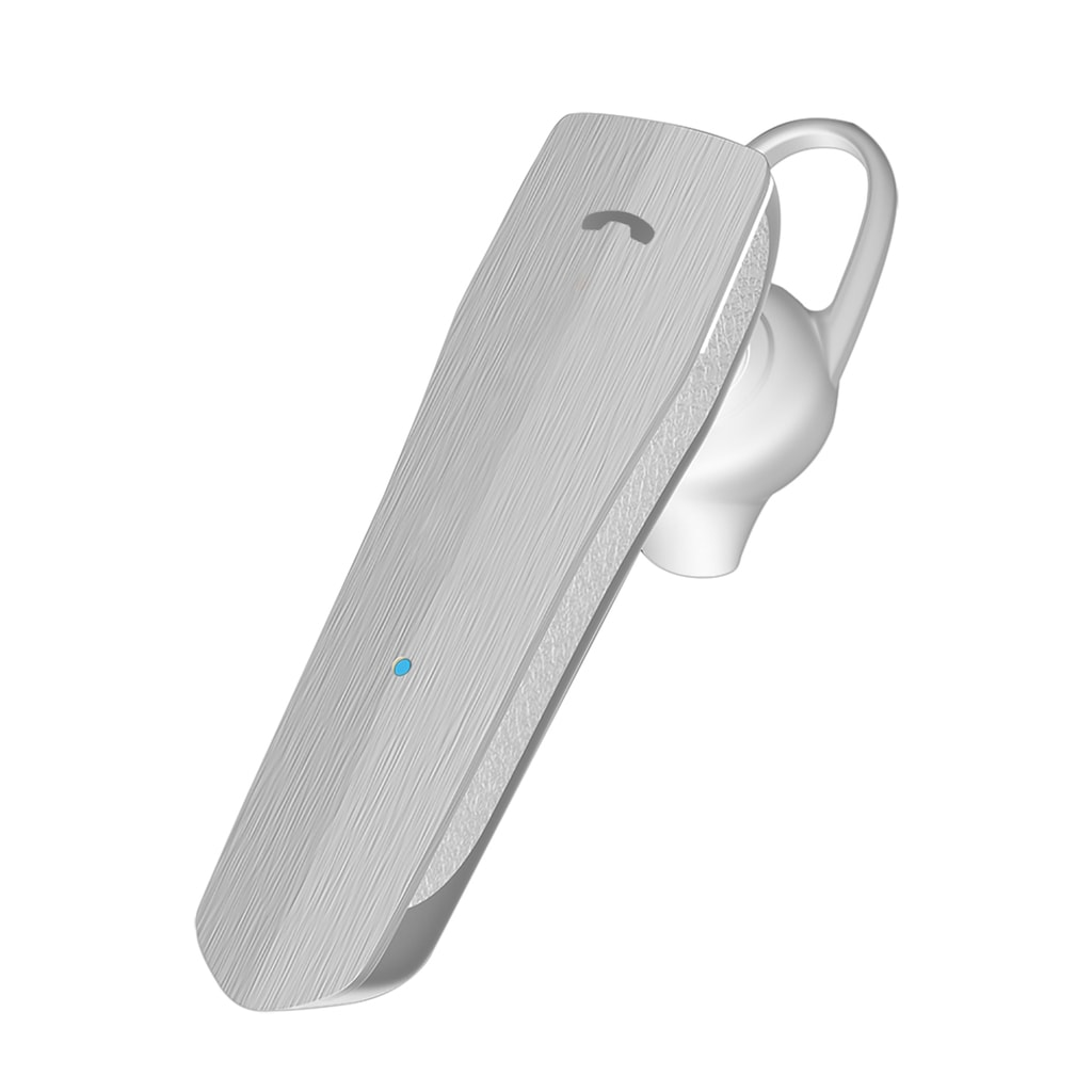 Promate Mono Wireless Headset, Professional HiFi Stereo Hands-Free Earphone with Multi-Point Pairing, Built-In Mic and HD Call Clarity for Apple iPhone, Samsung Galaxy, iPad Pro, iPod, Nomad White
