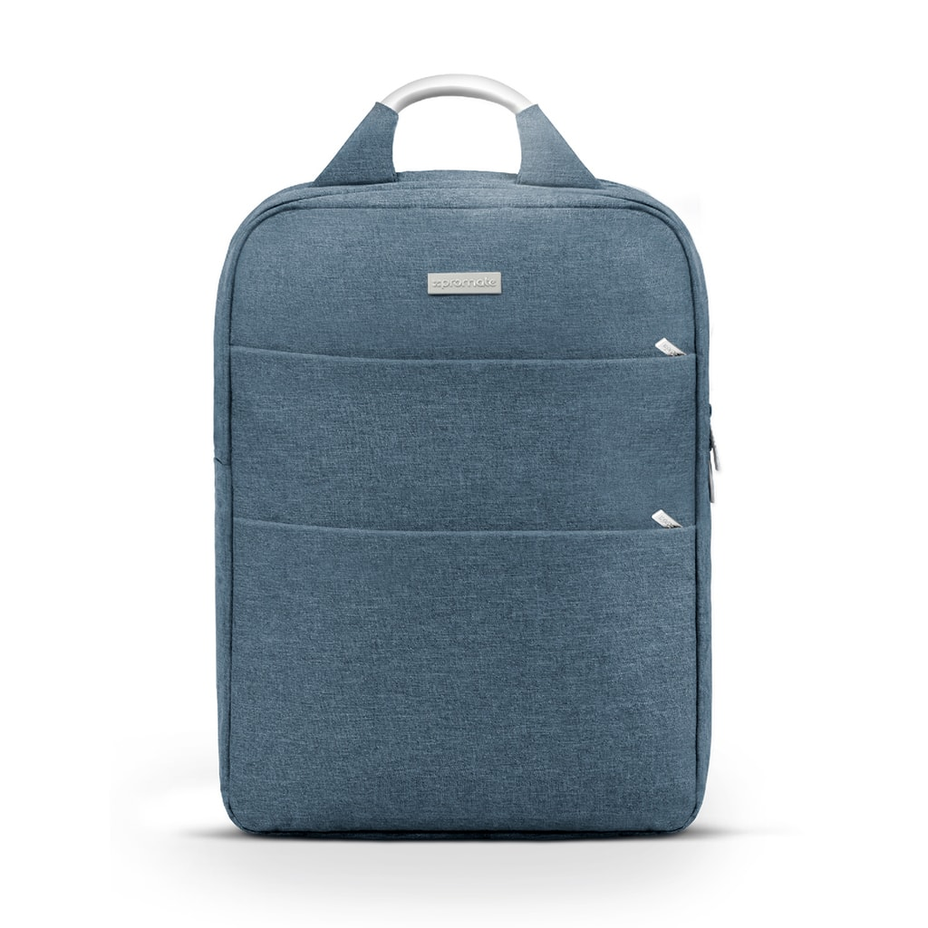 Promate Business Laptop Backpack, Travel Anti-Theft Slim 15.6 Inches Computer Backpack with Water Resistant, Secure Pockets and Adjustable Shoulder Padded Strap for Business, Travel, Nova-BP Blue