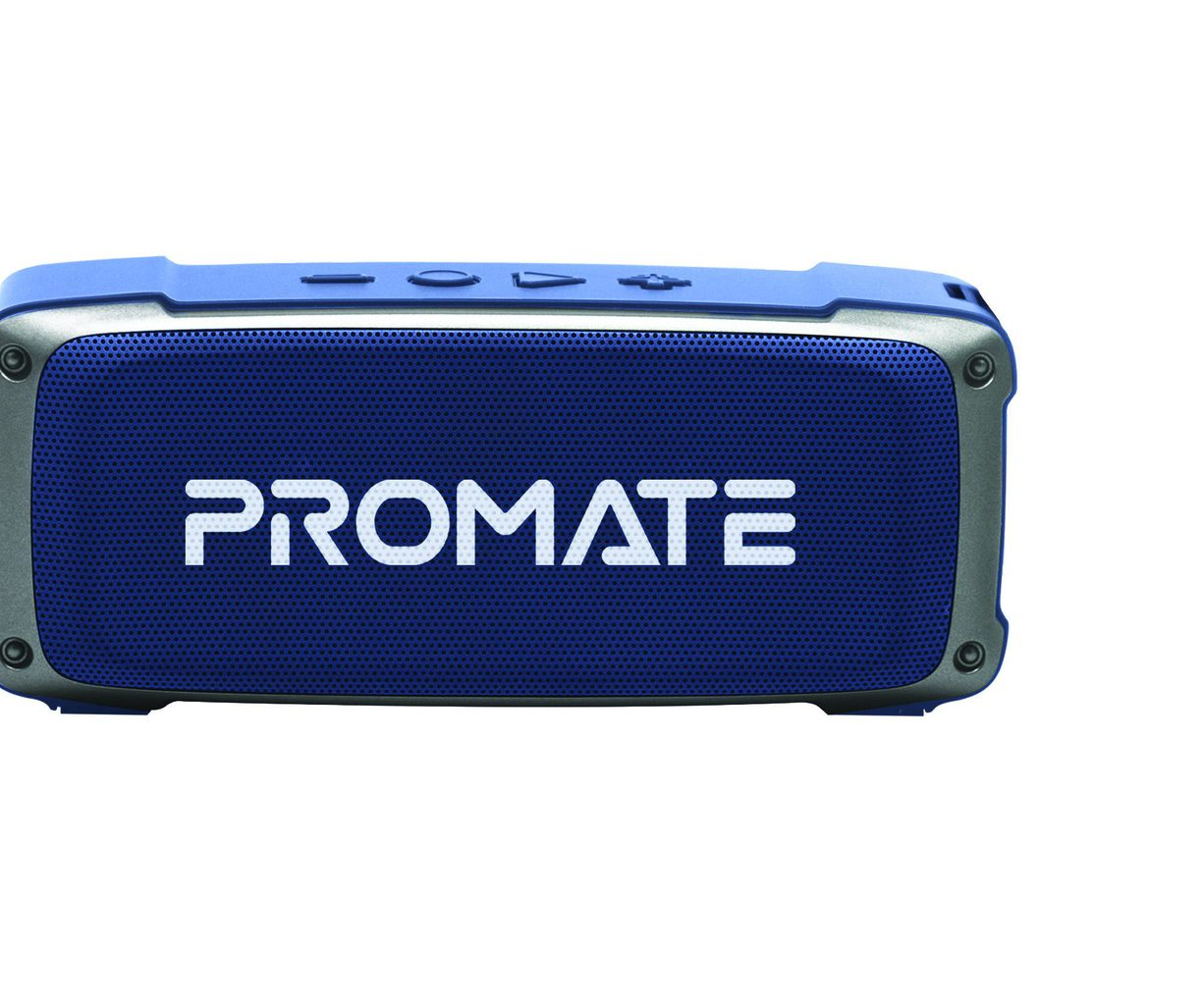 Promate Bluetooth Speaker, Premium 6W HD Rugged Wireless Speaker with 4H Playtime, Built-in Mic, FM Radio, 3.5mm Aux Port, TF Card Slot and USB Media Port for iPhone 12, iPad Pro, iPod, Android, OutBeat Blue