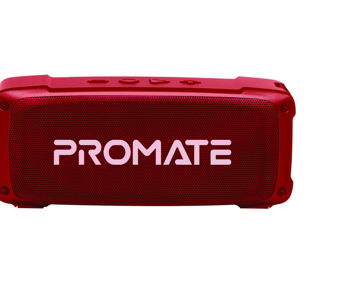 Promate Bluetooth Speaker, Premium 6W HD Rugged Wireless Speaker with 4H Playtime, Built-in Mic, FM Radio, 3.5mm Aux Port, TF Card Slot and USB Media Port for iPhone 12, iPad Pro, iPod, Android, OutBeat Maroon