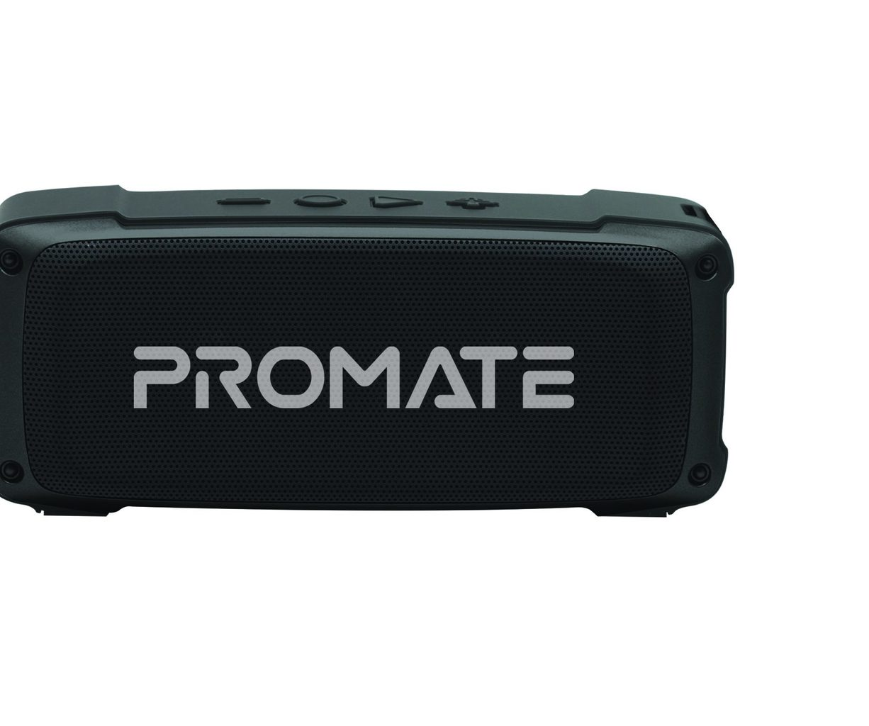 Promate Bluetooth Speaker, Premium 6W HD Rugged Wireless Speaker with 4H Playtime, Built-in Mic, FM Radio, 3.5mm Aux Port, TF Card Slot and USB Media Port for iPhone 12, iPad Pro, iPod, Android, OutBeat Black