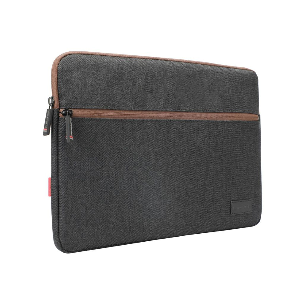 Promate Laptop Sleeve, Lightweight 13 Inch Water-Repellent Protective Fabric Laptop Sleeve with Secure Quick Access Pocket, Soft Inner Lining and Shockproof Bag for Laptops, Notebook, Tablet, Portfolio-M Black