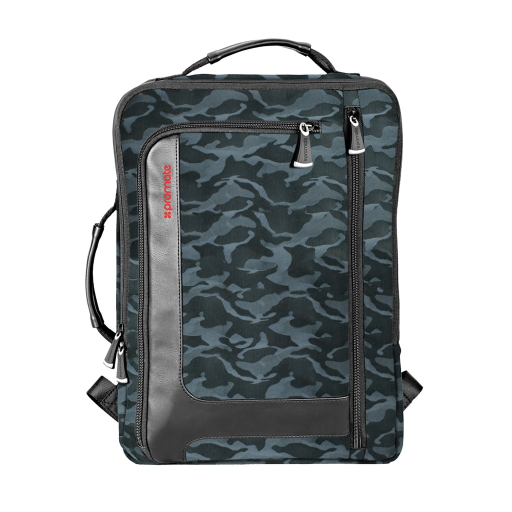 Promate Laptop Back Pack, Lightweight Anti-Theft Business Laptop Backpack with Secure Storage, Organizer, and Multiple Quick Access Pockets for Travel, Laptop, Hiking, Quest-BP Camouflage