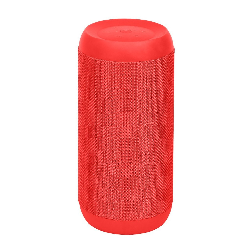 Promate True Wireless Stereo Speaker, Portable Bluetooth 20W Stereo Speaker with IPX6 Water Resistant, FM Radio, Micro SD Card Slot, USB Port, Audio Jack and Built-In Mic for Smartphones, Tablets, Silox Red