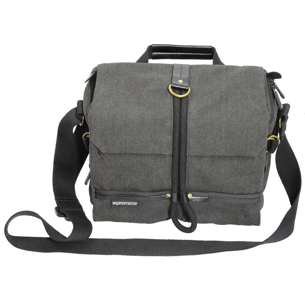 Promate DSLR Camera Bag, DSLR Digital Camera Bag Messenger Shoulder Case with Tablet Pocket and Water resistance Cover for Canon/Nikon/Sony DSLR ? Xplore-M