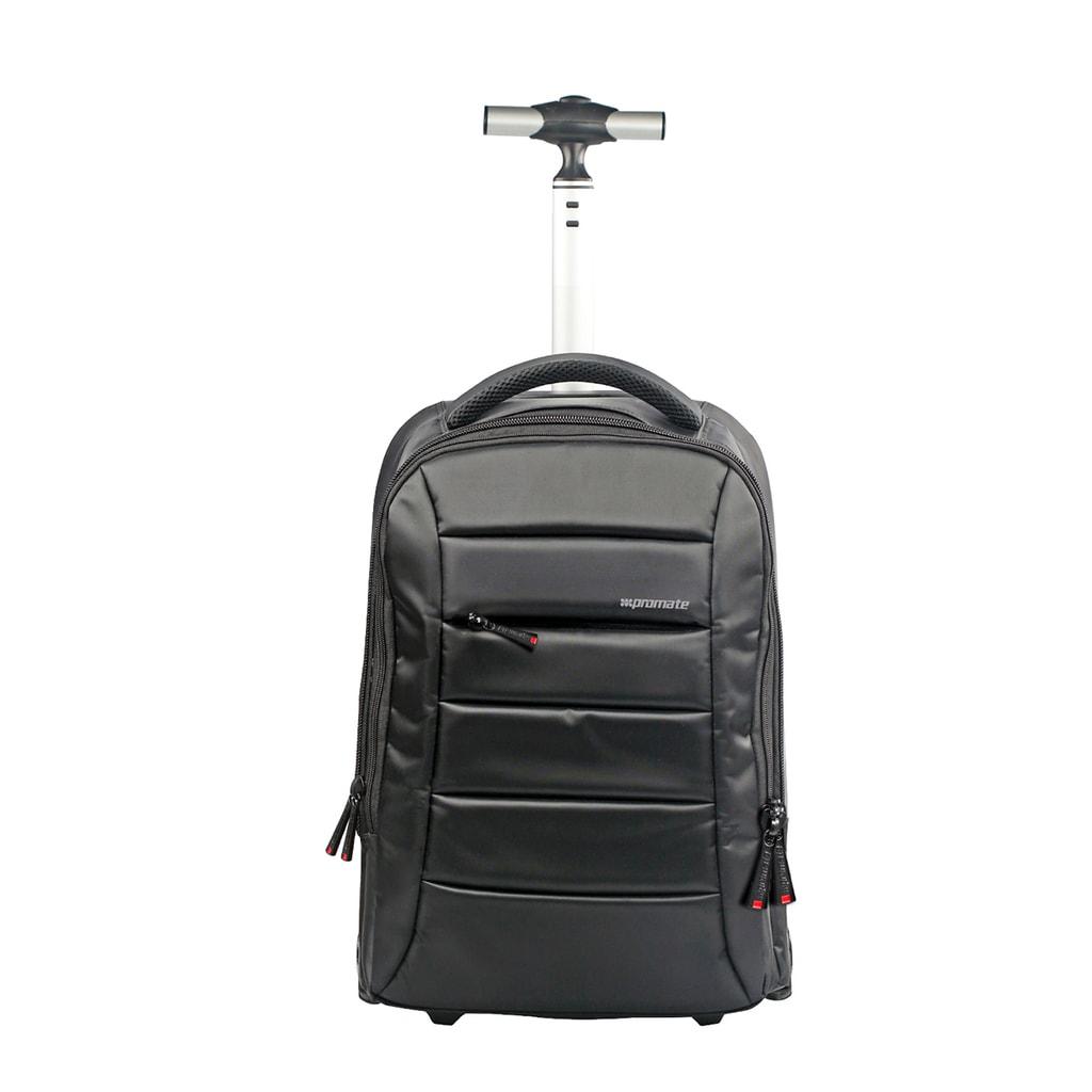 Promate Heavy Duty Trolley Bag for 15.6inch Laptop, Promate BizPak-TR.Black