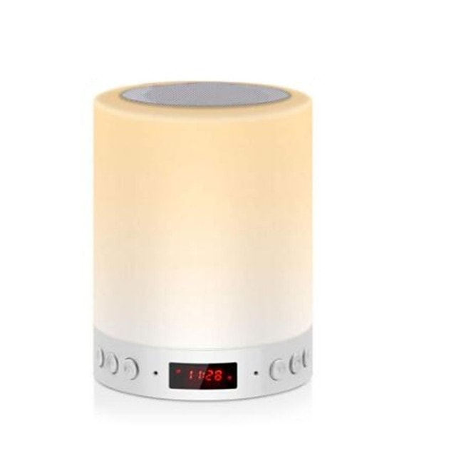 Portable Wireless Bluetooth Speaker Mini Player Touch Pat Light Colorful LED Night Light Bedside Table Lamp for Better Sleeps