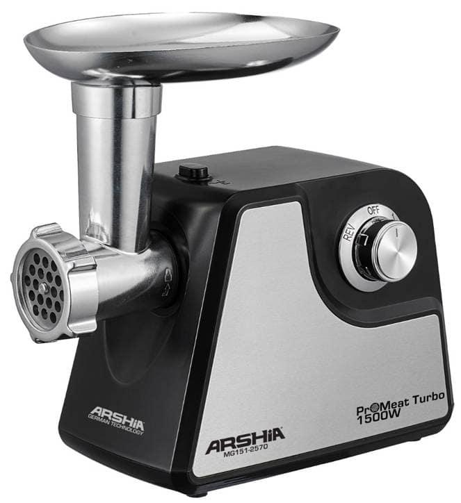 Arshia MG151-2570 1500W ProMeat Turbo Meat Grinder