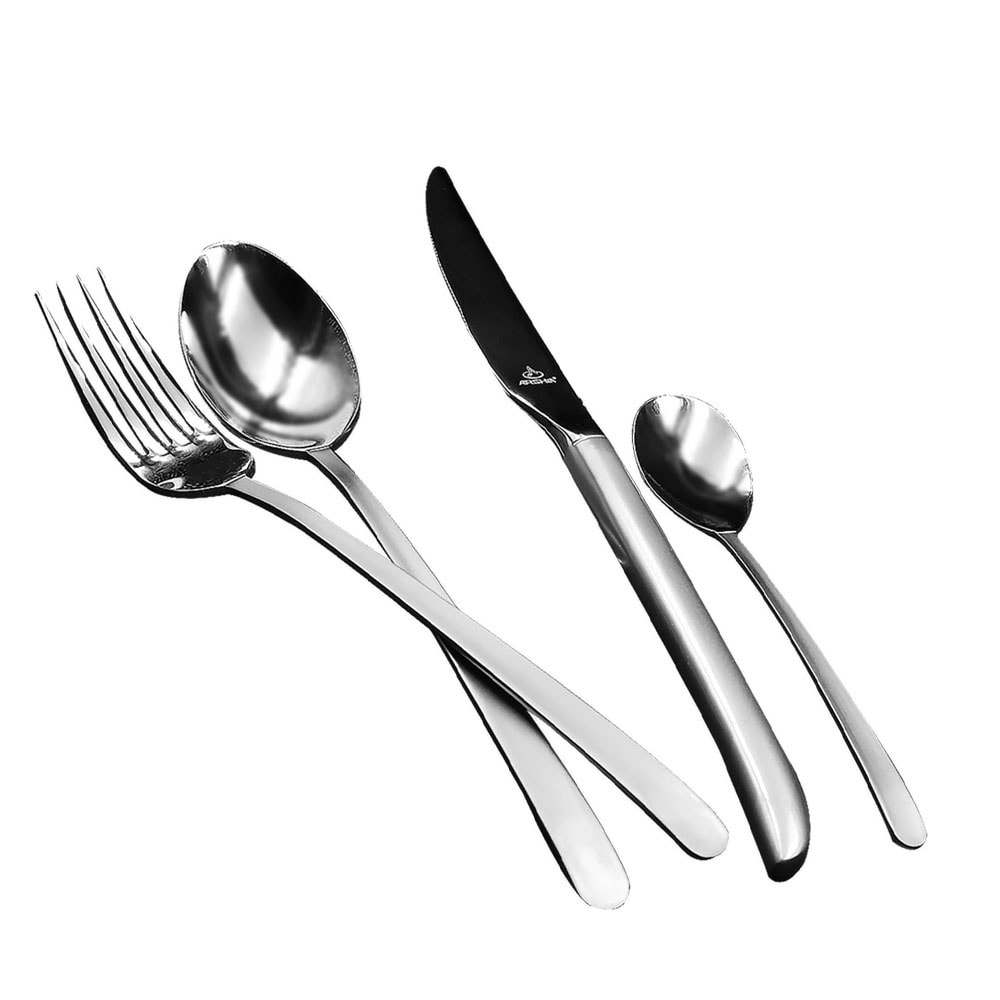 Arshia TM548M 24PCS Matte Silver Cutlery Set