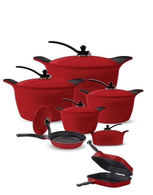 Arshia 14 PCS Granite Cookware Set