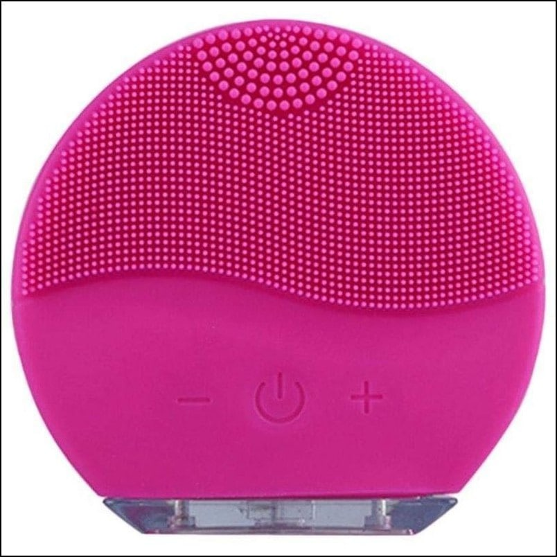 Waterproof Ultrasonic Silicone Face Cleansing Brush Massager