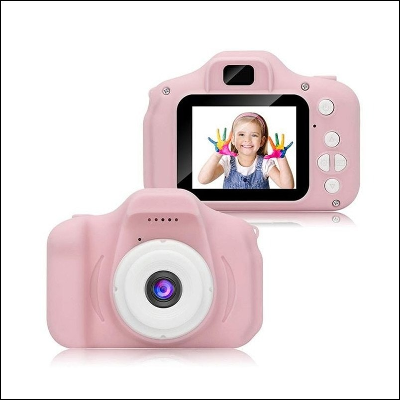 Kids Toy Digital Camera, Mini Rechargeable Children Shockproof Digital Camcorders Little Kid Toys Gift 1080P