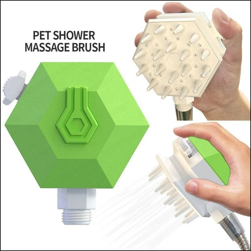 3 in 1 pet shower sprayers and scrubbers for pet with shampoo container