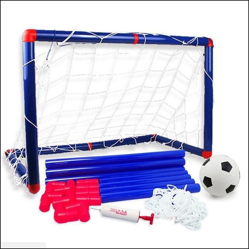 DIY Children Sports Soccer Goals with Soccer Ball and Pump Outdoor Football Game Sport Toy