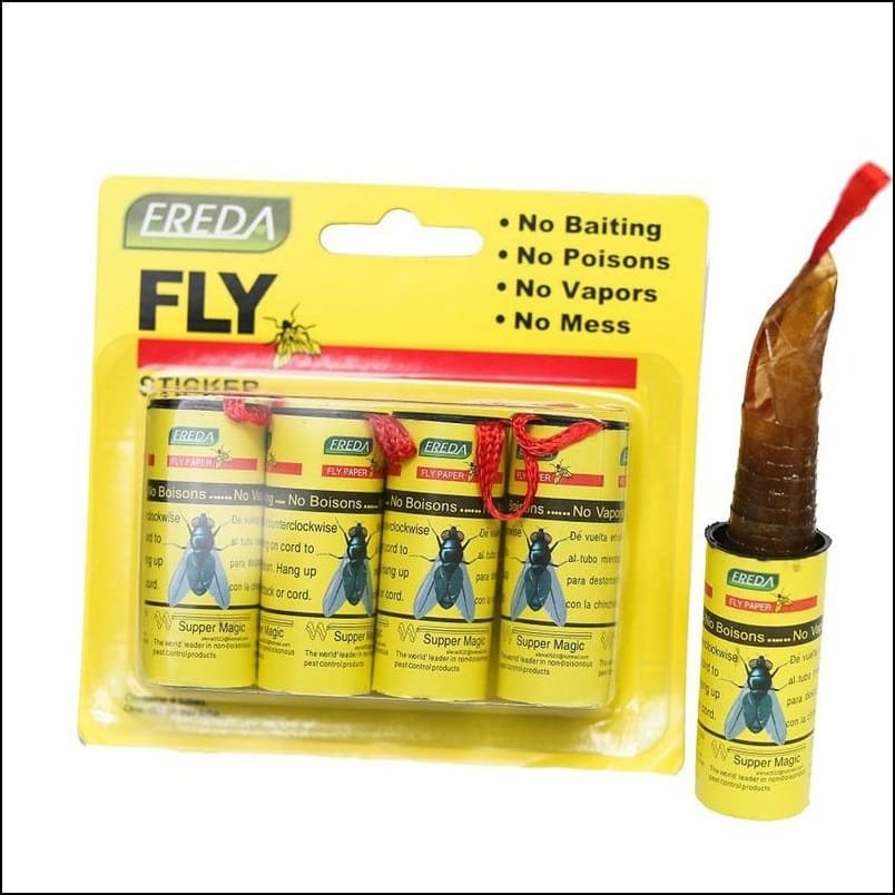 4 Pieces Flies, Bugs and Insect Trap Sticky Board