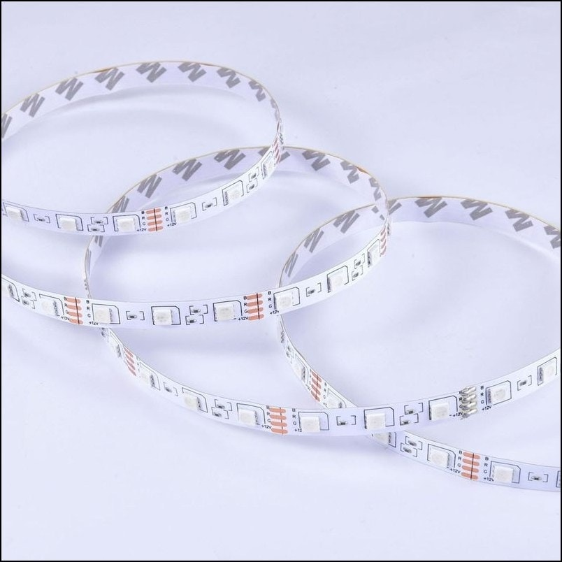5M LED Light Strip Waterproof with 12V Remote Control 5050RGB Colors