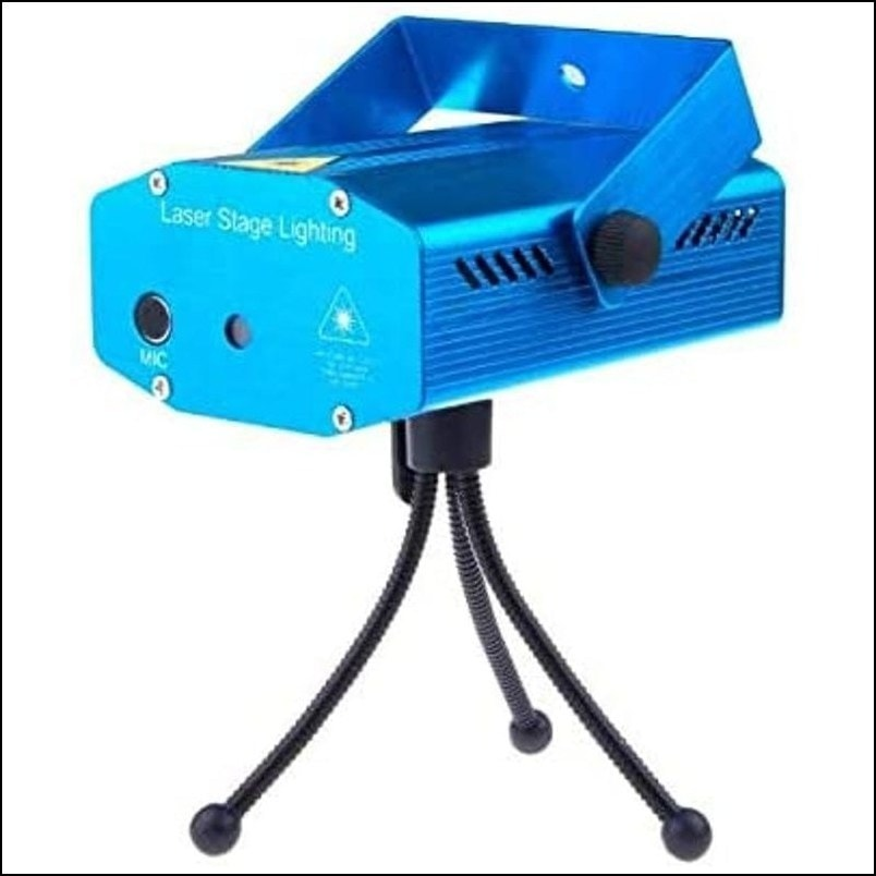 Mini LED Stage Light Lamp R/G Laser Projector Stage