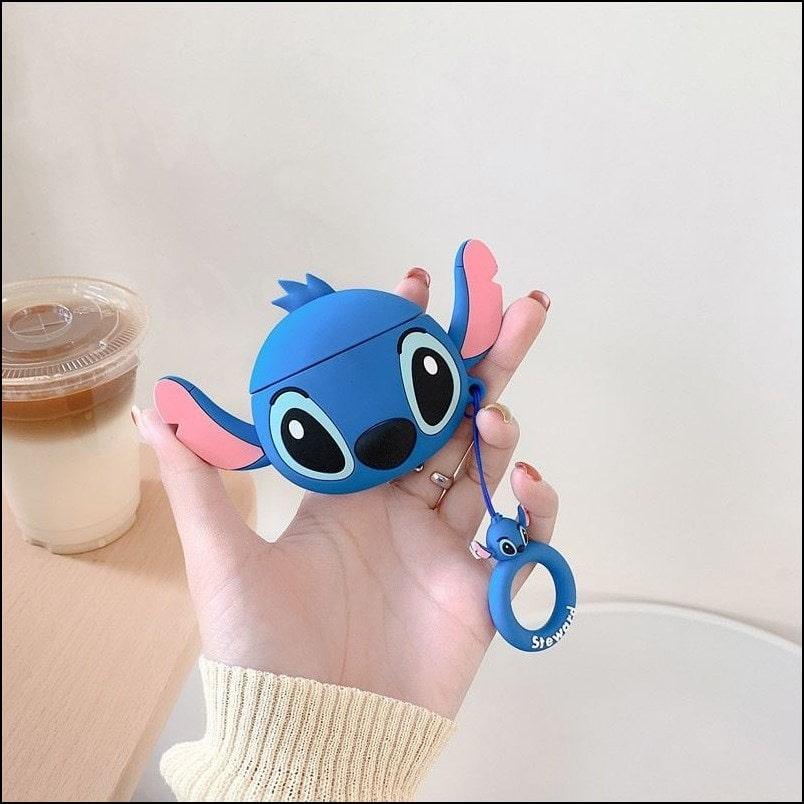 Stitch - 3D Cartoon Air pods Pro Silicon Case (Blue)