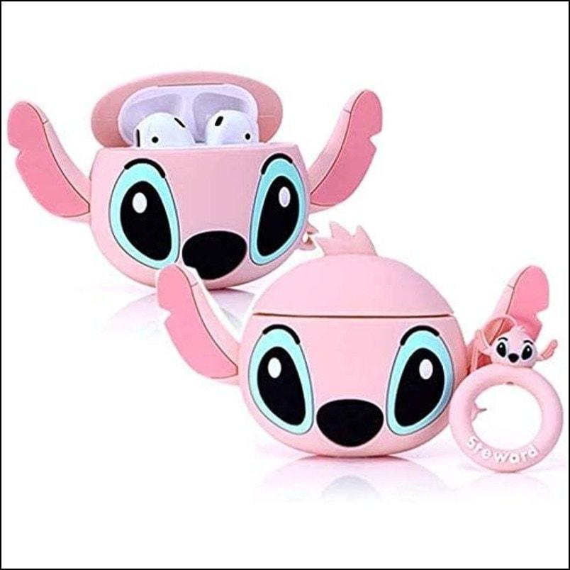 Stitch - 3D Cartoon Air pods Pro Silicon Case (Pink)