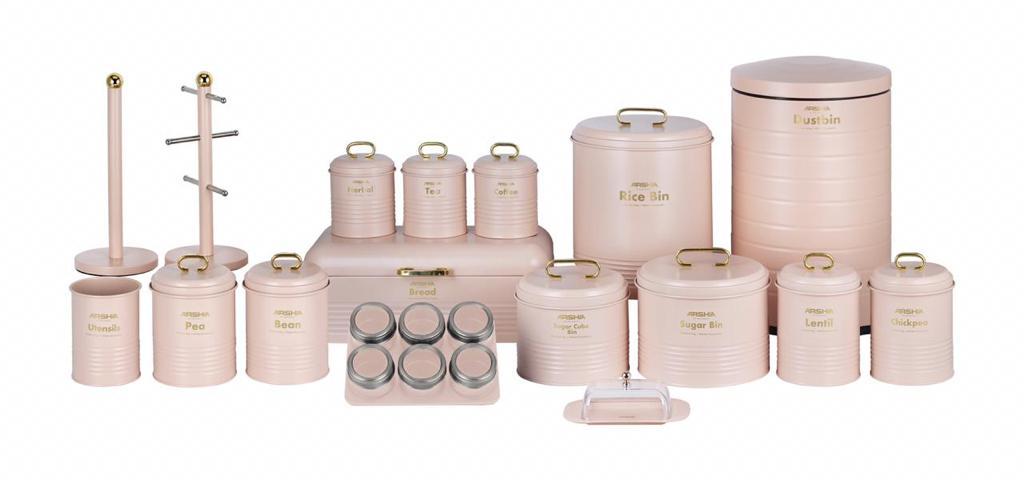 Arshia 24PCS Houseware Set - Lady Pink