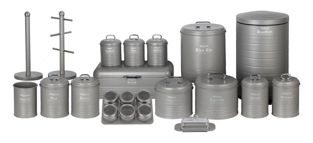 Arshia 24PCS Houseware Set - Grey