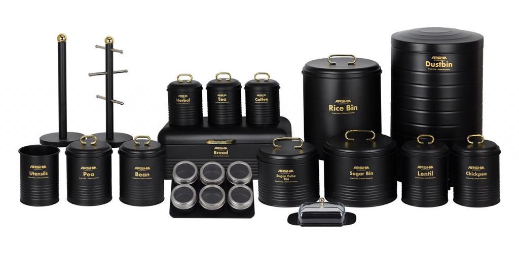 Arshia 24PCS Houseware Set - Black