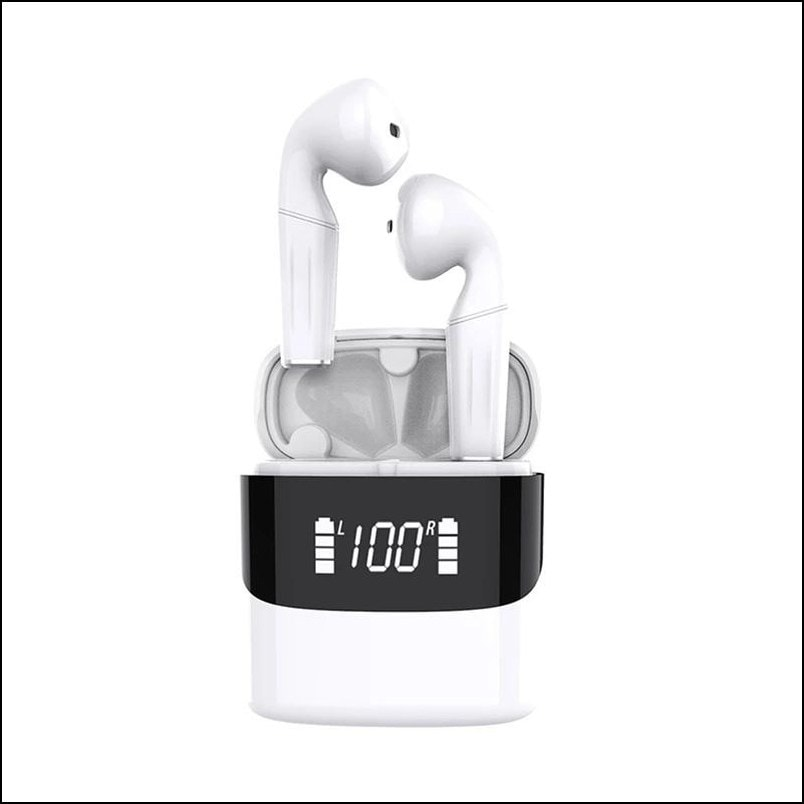 Y12 - Stereo Headphones with mic, in-Ear Earphones Headset with LED Display, Bluetooth 5.0