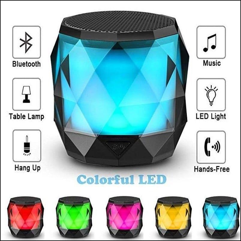 Diamond Shape Portable LED Wireless Bluetooth Speaker