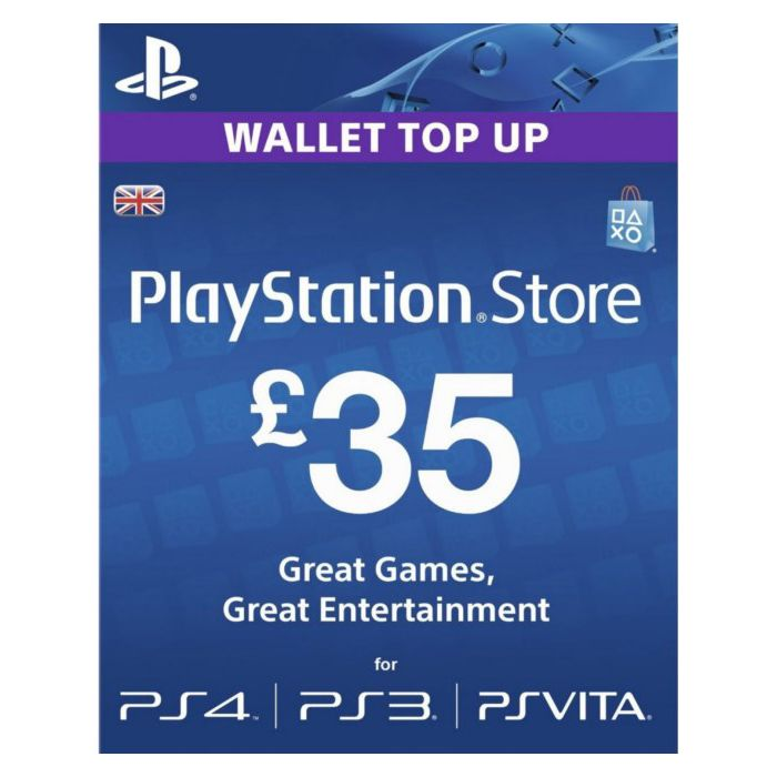 PlayStation Network Card £35 (UK) - Email Delivery