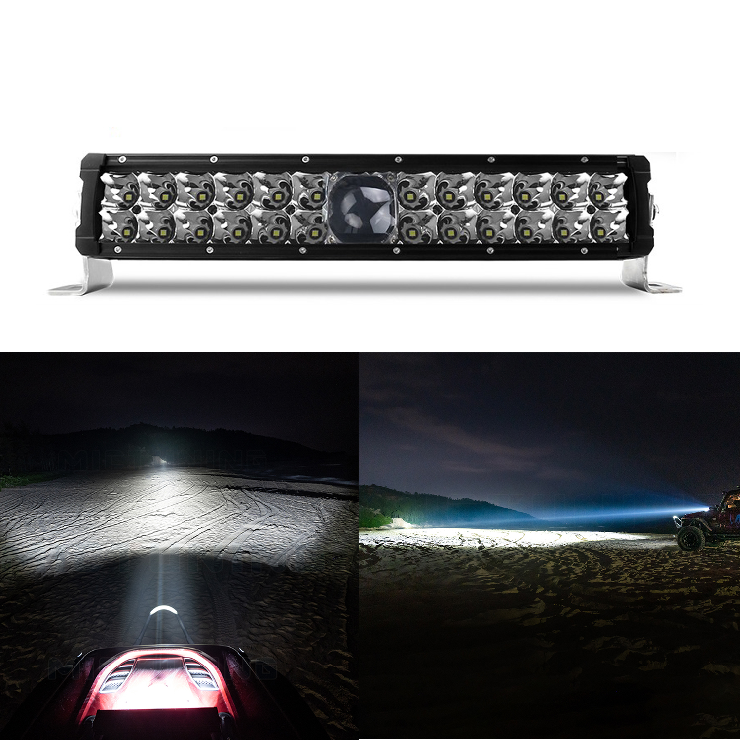"""Laser TBS -19025 O- 14"""" Laser Light Bar follows in the footsteps of the legendary Toby's  Laser Driving Lights"""