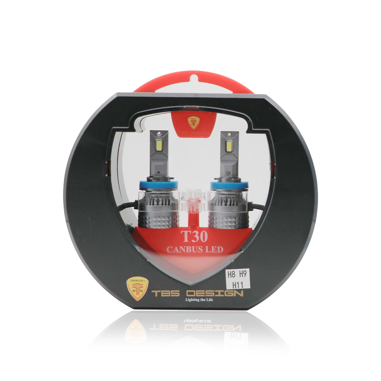 Tobys T30 Canbus H11 LED Headlight Bulbs 120W, 6500K, ZES Technology, 11000LM , Conversion KIT