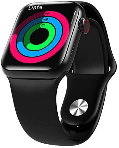 HW12 Full Screen Smart Watch 40MM/44MM Women Men Smartwatch Split Screen Bluetooth HD Call Play Music Sport Wrist (Black)