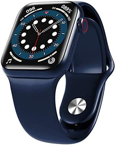 HW12 Android Smart Watch ,1.57 inch Square Screen, Heart rate Monitoring, Bluetooth HD Call (Blue)
