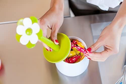 Vigar Flor Small Kitchen Jar Green