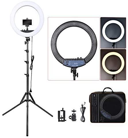 EWORLD® Mobile Live Supplementary Light Photography Ring Lamp Beauty Lamp Ring Light With US Plug No Tripod Included