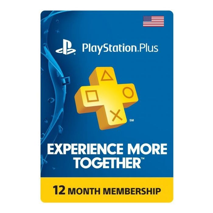 PlayStation Plus 12 Months Membership Card (US) - Physical Delivery