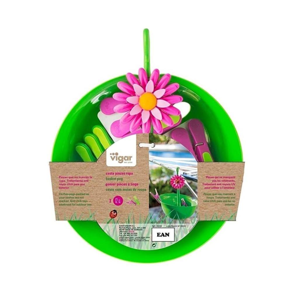 Vigar Flower Power Basket Pegs
