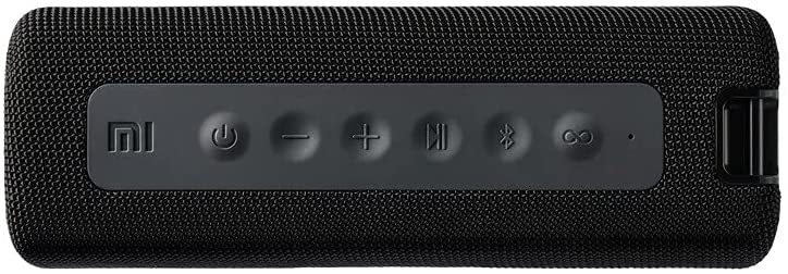 Xiaomi Mi Bluetooth Portable Speaker, 13 Hours Playtime, Built-in Microphone, IPX7 Waterproof, Portable Wireless Speaker with Strong Stereo Sound (Black)