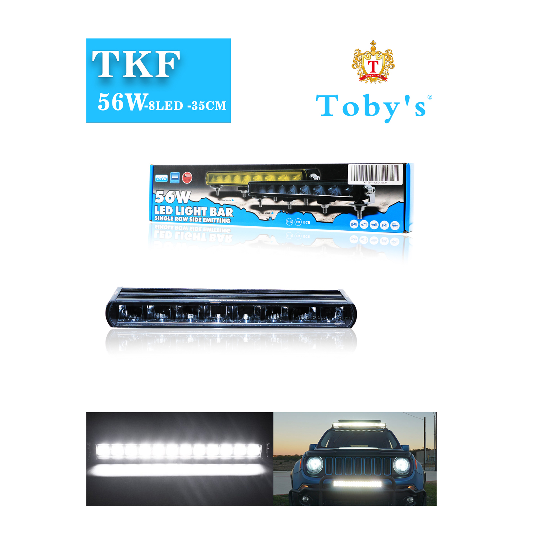 "TKF 56WLight Bar Combo Spot/Flood Beam LED Light Bar with DRL (8 LED"", 35CM"")"