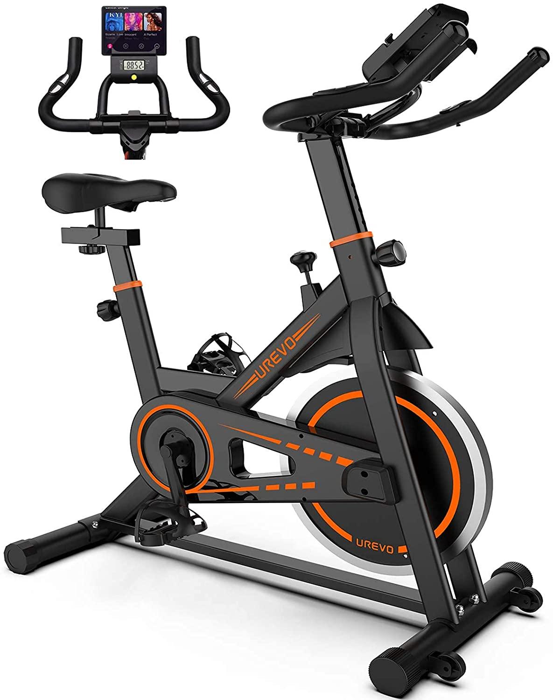 UREVO U6 Indoor Stationary Bike, Exercise Bike Training Bike, Home Fitness Bikes, Cardio Training Bike