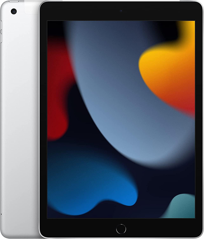 New 2021 Apple iPad (10.2-inch, Wi-Fi + Cellular, 64GB) - Silver (9th Generation)