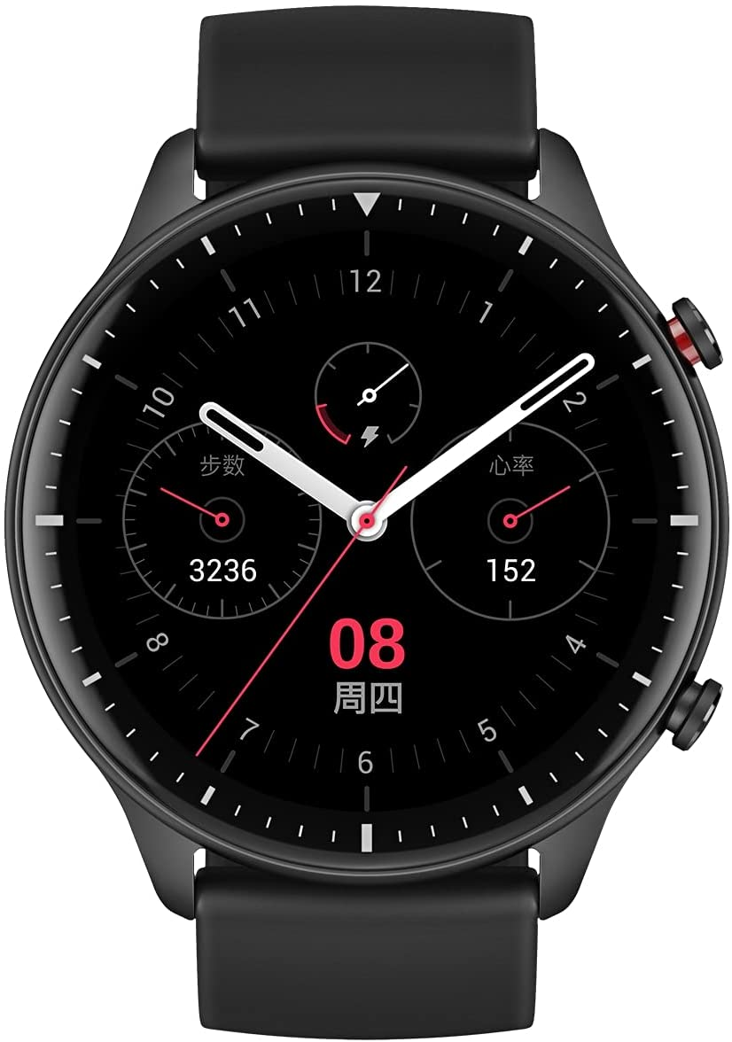 Amazfit GTR 2 Smartwatch with 3GB Music Storage, GPS, Heart Rate, Sleep, Stress, SpO2 Monitor, 14-Day Battery Life, Bluetooth Phone Calls, 90 Sports Modes, Water-Resistant, Sports Edition