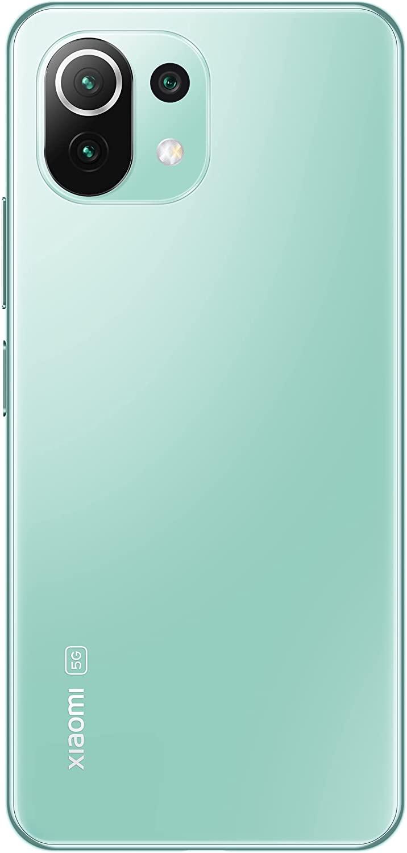 """Xiaomi Mi 11 Lite 5G - Smartphone 6GB+128GB, 6.55"""" AMOLED DotDisplay, Snapdragon 780G, 64MP+8MP+5MP Triple Camera, 4250mAh, Mint Green (EU Version)"""