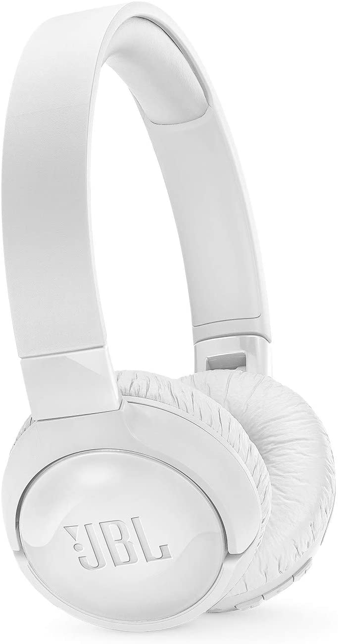 JBL T600BTNC Noise Cancelling, On-Ear, Wireless Bluetooth Headphone, White, Medium