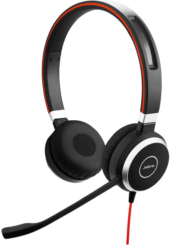 Jabra Evolve 40 UC Wired Headset - Professional Unified Communicaton, Black