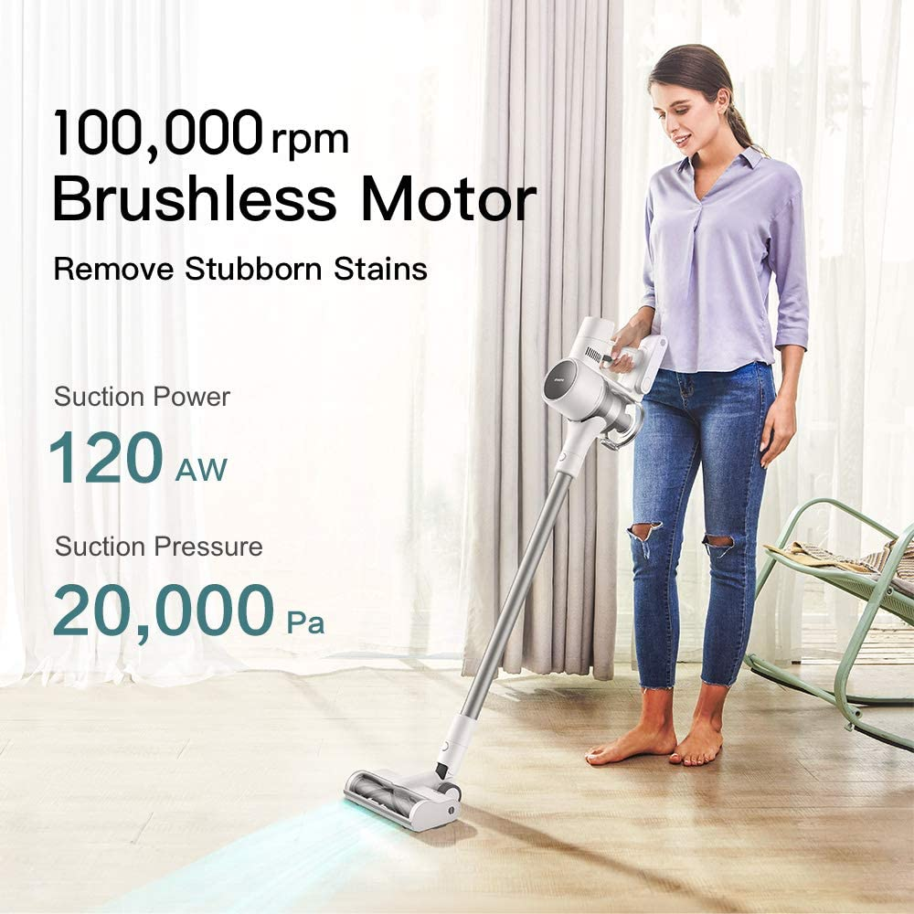 Dreame T10 Cordless Vacuum Cleaner with 60 mins Duration Time, 20Kpa Powerful Suction Vacuum Cleaner, 8-Layer Noise Reduction Handheld Vacuum for Home Hard Floor Pet Hair