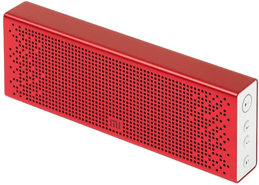 Xiaomi Mi Wireless Bluetooth Speaker with AUX input, Hands Free Support For Calls, Portable, For Outdoor, Home & Travel Compatible With Smartphones, Tablets, TVs, Laptops etc - Red - Metallic Finish