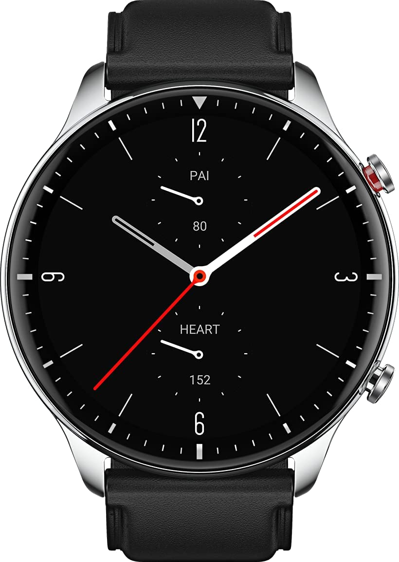 Amazfit GTR 2 Smartwatch with 3GB Music Storage, GPS, Heart Rate, Sleep, Stress, SpO2 Monitor, 14-Day Battery Life, Bluetooth Phone Calls, 90 Sports Modes, Water-Resistant, Stainless Steel