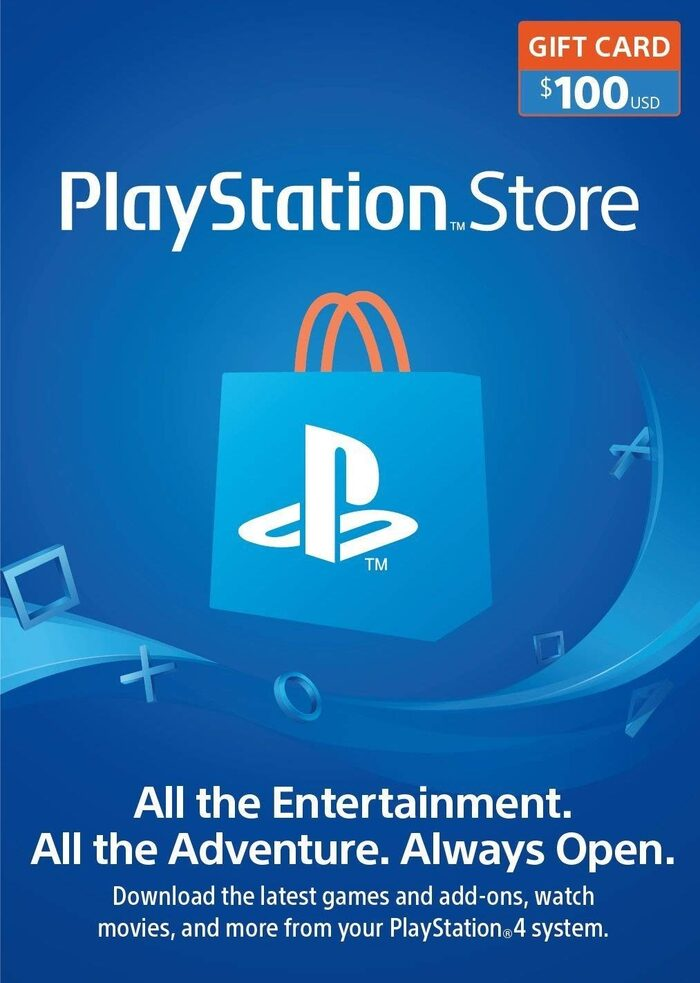 PlayStation Network Topup Wallet 100 USD Card - Physical Delivery